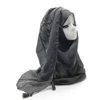 1pc women lace hijab tassel design plain maxi shawl fashion scarf 9 colors Women Plain scarf tassel solid islamic hijab scarfs