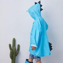 Уличный милый дождевик с динозавром Детское Пончо из полиэстера