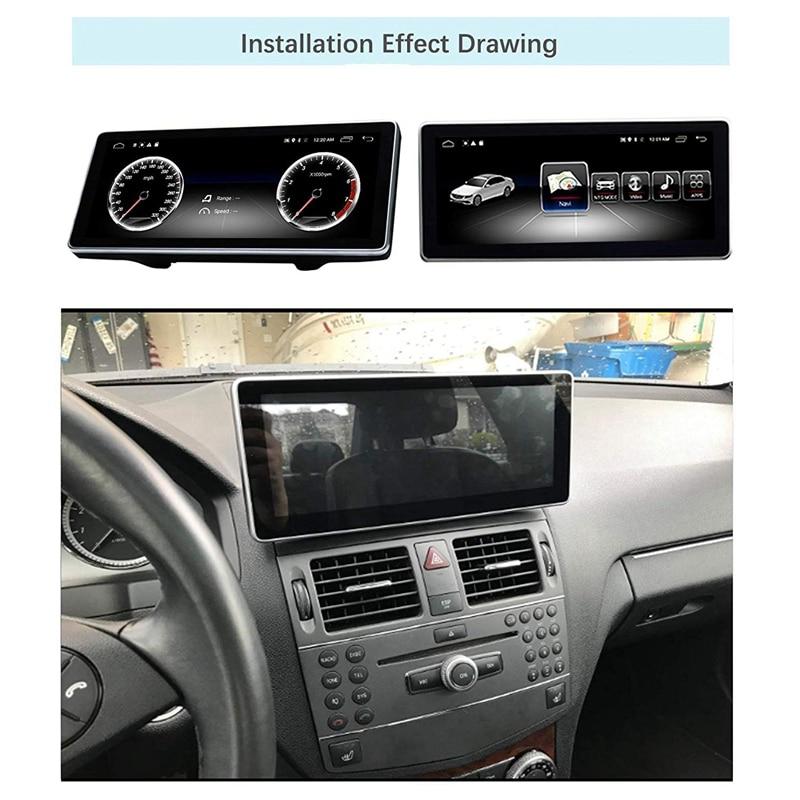 Écran de presse de Navigation de voiture de 10.25 pouces pour Mercedes Benz CLK classe W204 S204 C207 A209 2008 à 2010 Blu-Ray écran GPS voiture Navig - 2