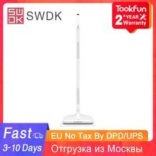 뜨거운 SWDK 전기 Mop D260 소형 무선 물 살포 mop 지면 cleanr 게으른 사용 똑똑한 가구 청소 공구 90 ° 교체