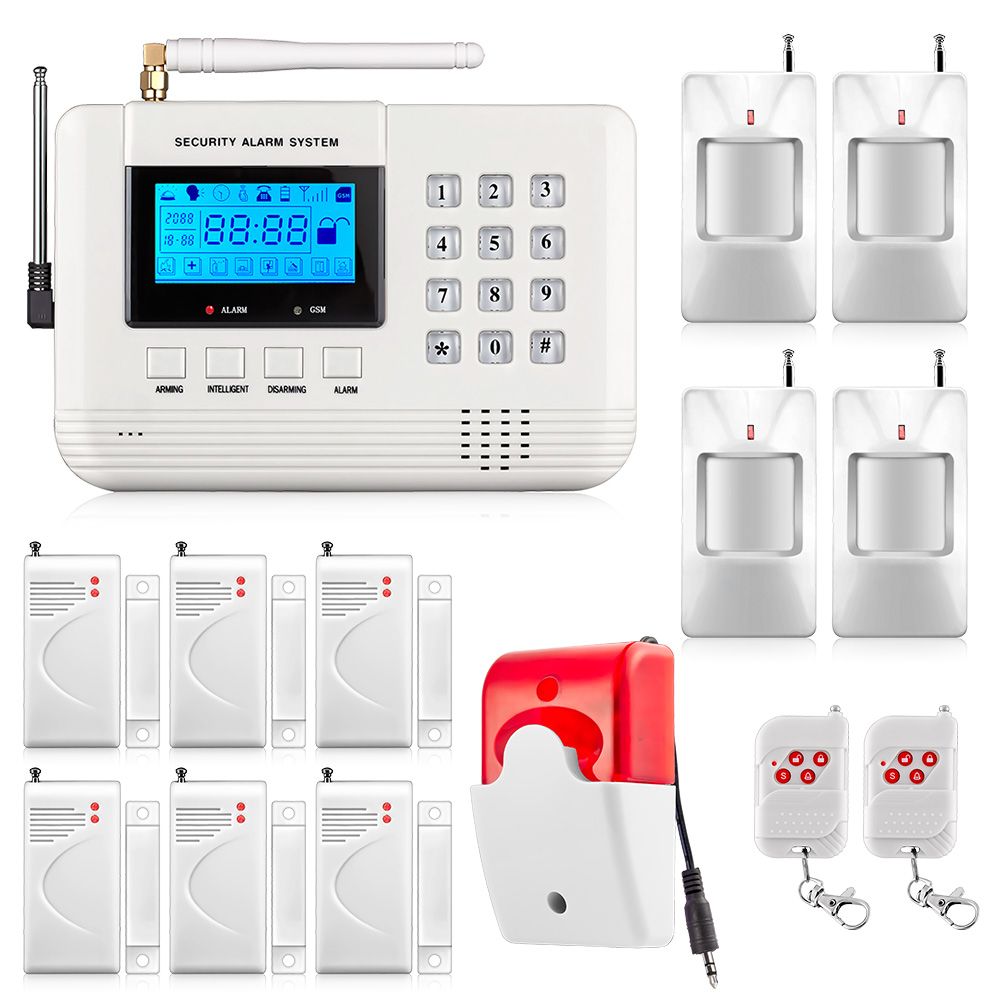 Fuers Q2 GSM PSTN Alarm System Security Home Wireless Mobile Intelligent Digital Signal Processing Remote Intercom Alarm System