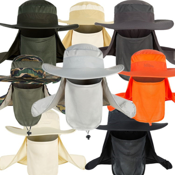 Outdoor Travel Fishing Fisherman Neck Face UV Sun Protection Flap Cap Hat Fisherman Hat Adjustable and Removable Fishing Caps 3