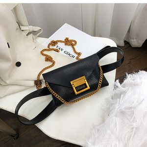 Luxury Waist Bag For Women Belt Bag Fashion Leather Chest Bag Chain Shoulder Bags Fanny Pack Waist Pack Purse Sac Banana Femme