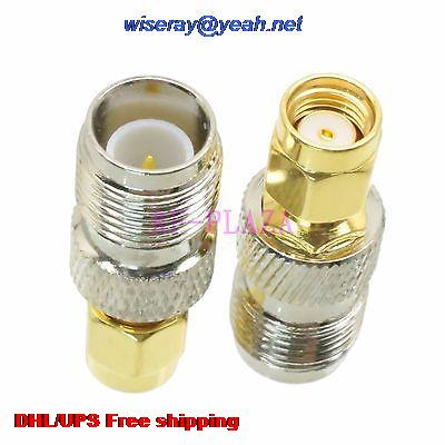 DHL/EMS 200pcs Adapter RPTNC Female To RPSMA Male Straight RF COAXIAL With One Year Warranty -a4