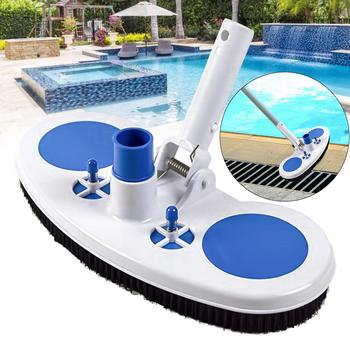 Swimming Pool Suction Vacuum Head Brush Cleaner Hard Curved Cleaning Tools Wall & Floor Brush Bristles Cleaner Broom Hot Tub цена 2017