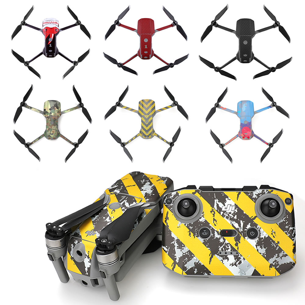 For DJI Mavic Air 2 PVC Sticker Protective Film Waterproof Scratch-proof Decals Skin for Mavic Air 2 Accessories