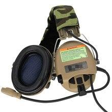 Auriculares tácticos Airsoft Sordin para caza, auriculares militares, reducción de ruido, protección auditiva, orejeras