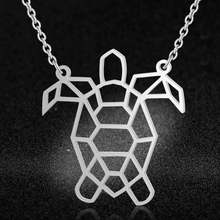 100% Real Stainless Steel Hollow Sea Turtle Kalung Hewan Unik Perhiasan Kalung Tren Perhiasan Kalung Desain Italia(China)