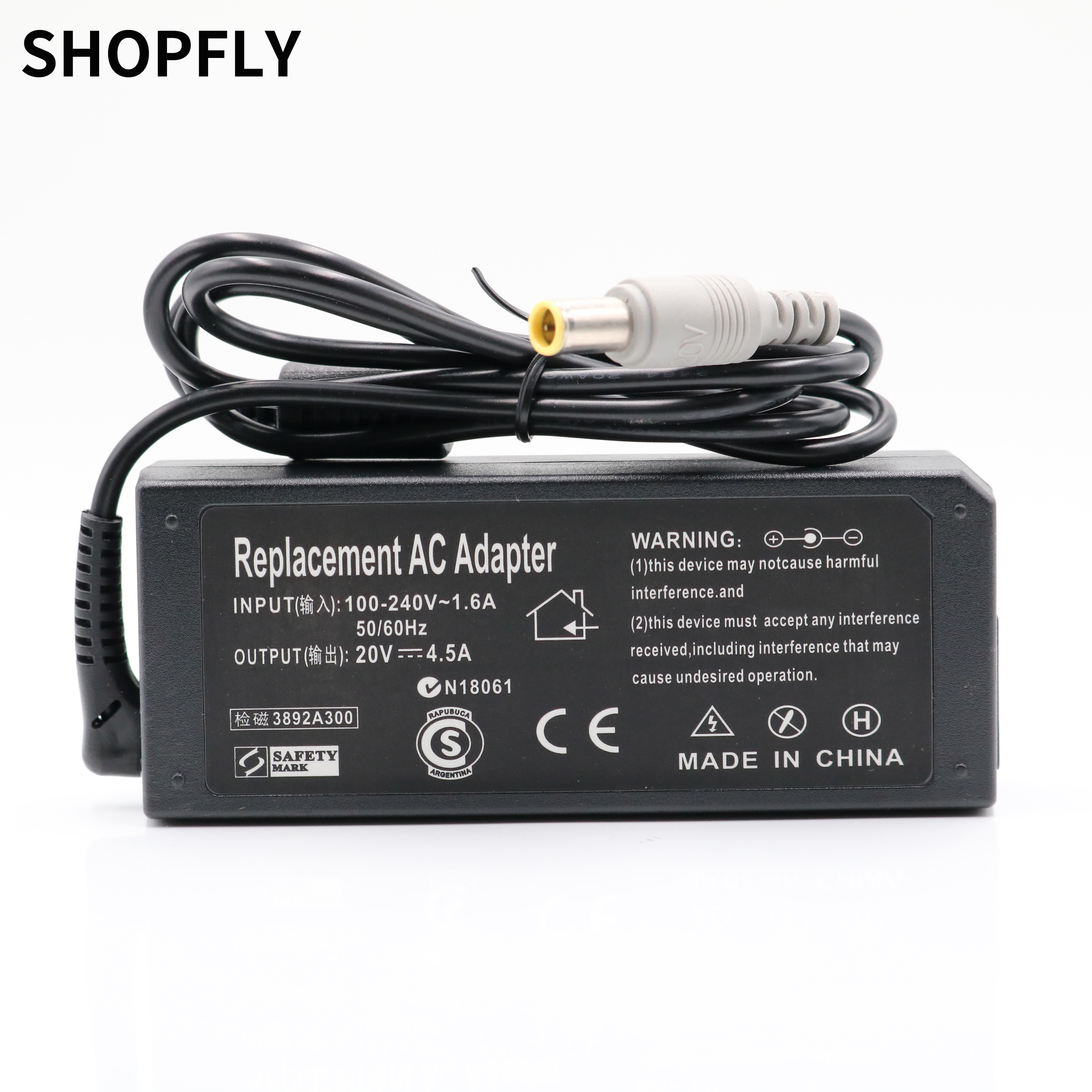 <font><b>20V</b></font> 4.5A 90W Laptop <font><b>Ac</b></font> <font><b>Adapter</b></font> Charger for Lenovo / Thinkpad T400 T410 T420 T430 T500 T510 T520 T530 T400s T410s T410i image
