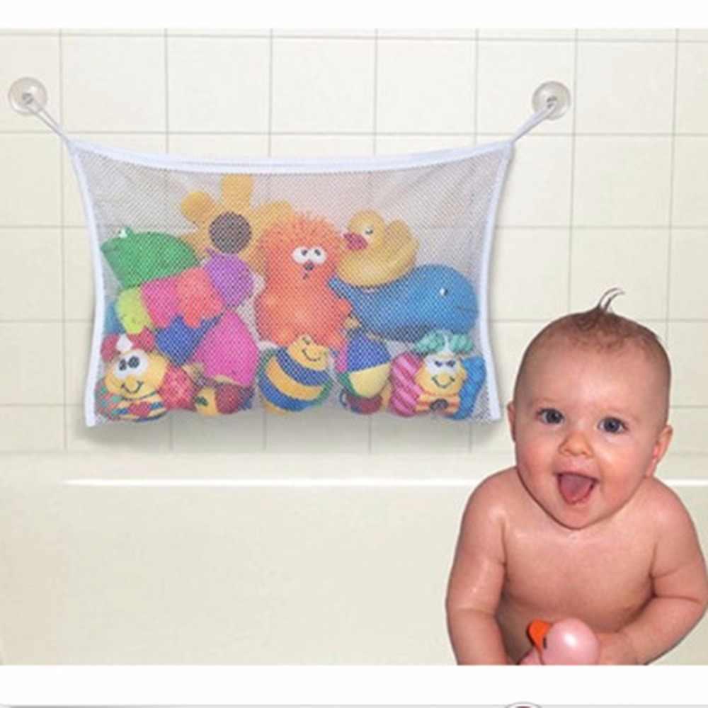 45*35cm przydatne trwałe dziecko dzieci dzieci zabawki do kąpieli etui do przechowywania pojemniki netto Mesh torba Strong Sucker