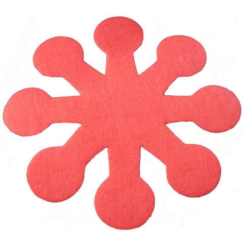 4pcs ดอกไม้อีสเตอร์หม้อกระทะจานป้องกันผู้ถือ Anti-Scratch แผ่นแบ่งถ้วยดื่ม Coasters
