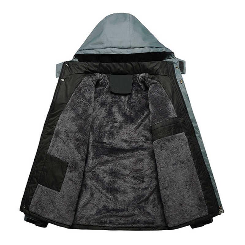 2020 Baru Merek Jaket Musim Dingin Pria Wanita Fashion Hangat Luar Ruangan Jaket Bulu Berjajar Tahan Air Ski Snowboard Mantel Plus Ukuran M-5XL
