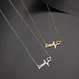 Ожерелье DOTIFI из нержавеющей стали 316L, простое модное женское ожерелье в форме сердца для женщин, подарок на помолвку, ювелирные изделия