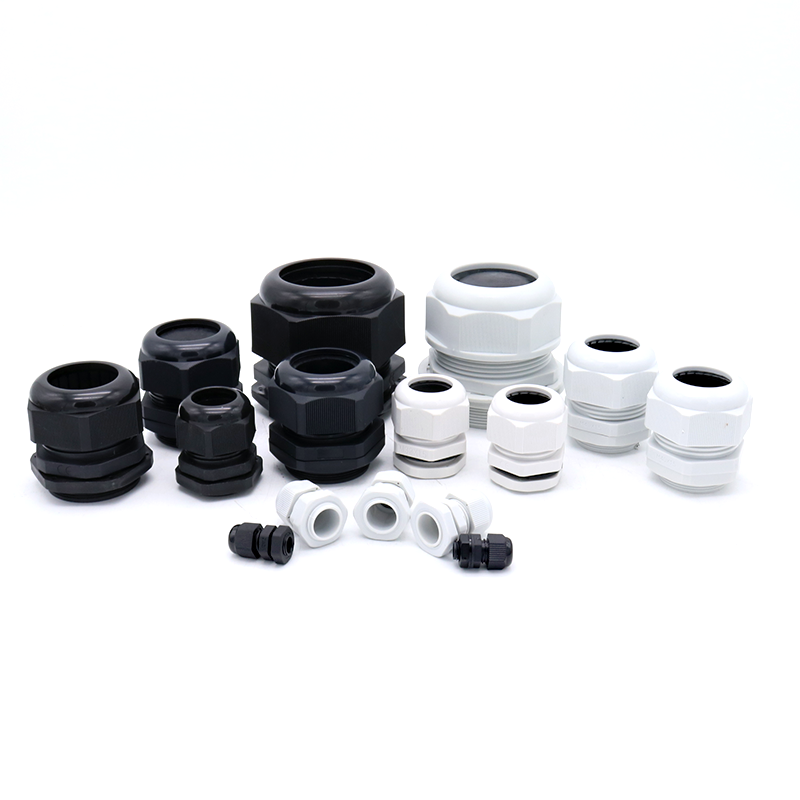 M16 6 hole cable gland Waterproof IP68 Nylon Gasket Adjustable Locknut for 1.4-2.1 mm diameter cable