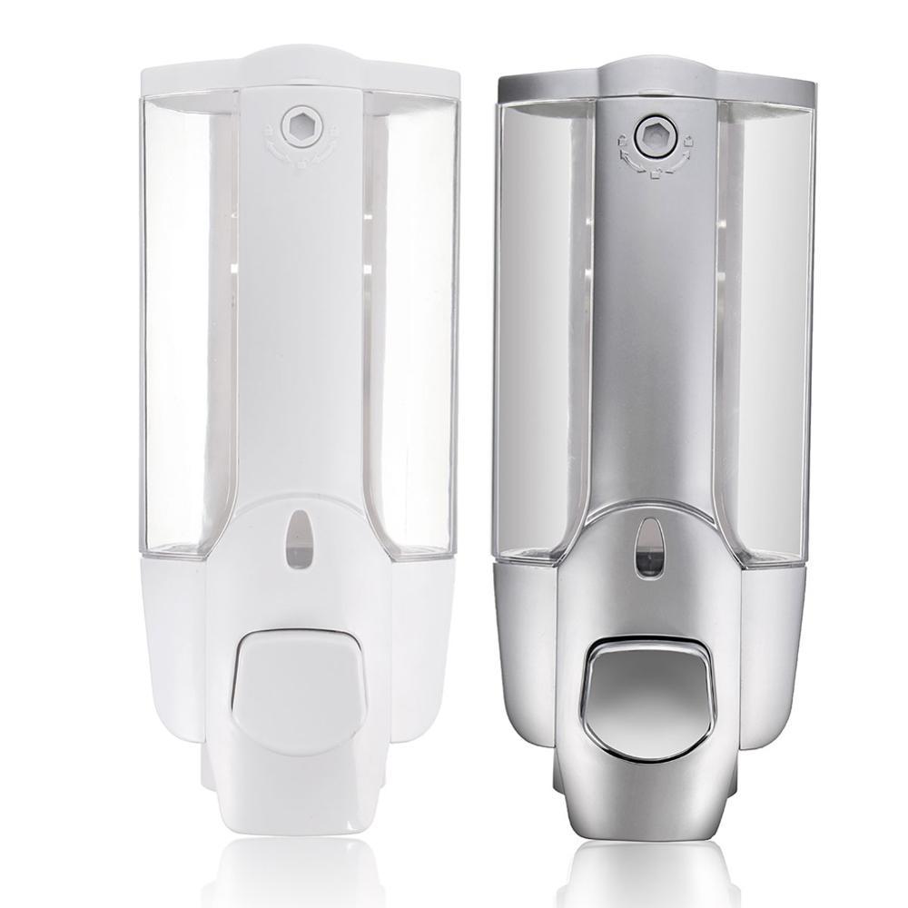Высокая Продажа 350 мл диспенсер для жидкого мыла настенное крепление аксессуары для ванной комнаты диспенсеры для моющего средства шампунь двойная бутылка для мыла для рук HVR88|Дозаторы жидкого мыла|   - AliExpress