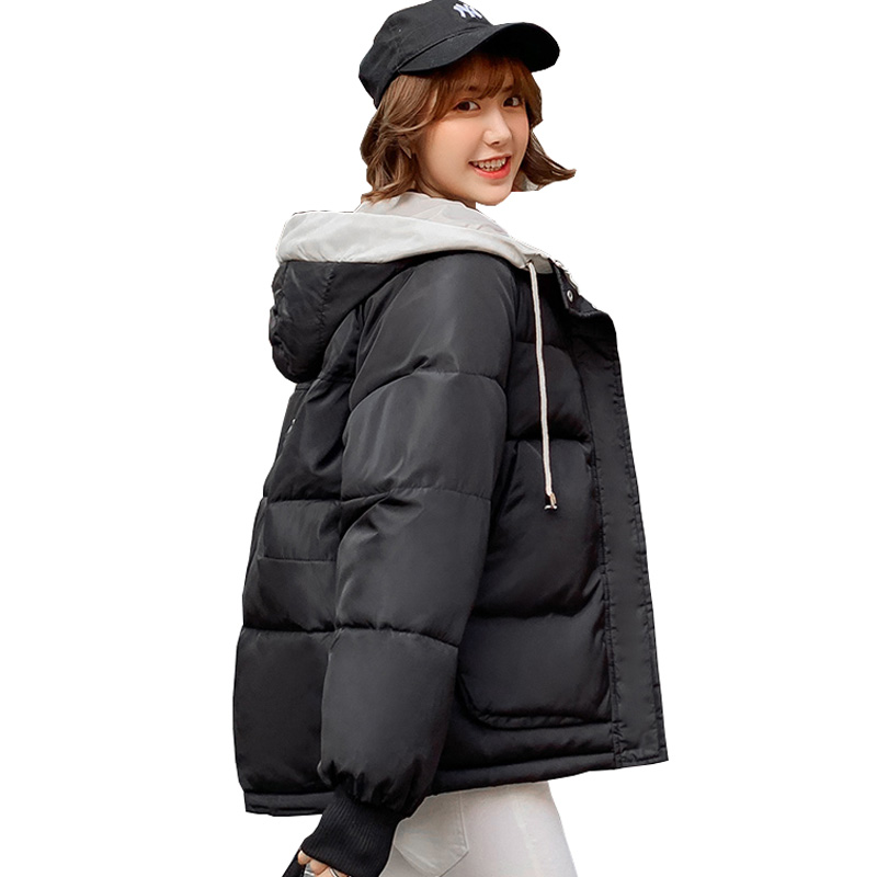 Winter Jacket Women 2019 Women Parkas Outerwear Solid Coats Short Female Slim Cotton Padded Plus Size