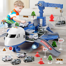 DIY Track Inertia Toy Large Size Passenger Plane Deformation Music Simulation Aircraft Kids Airplane Toy for Children's Day Gift