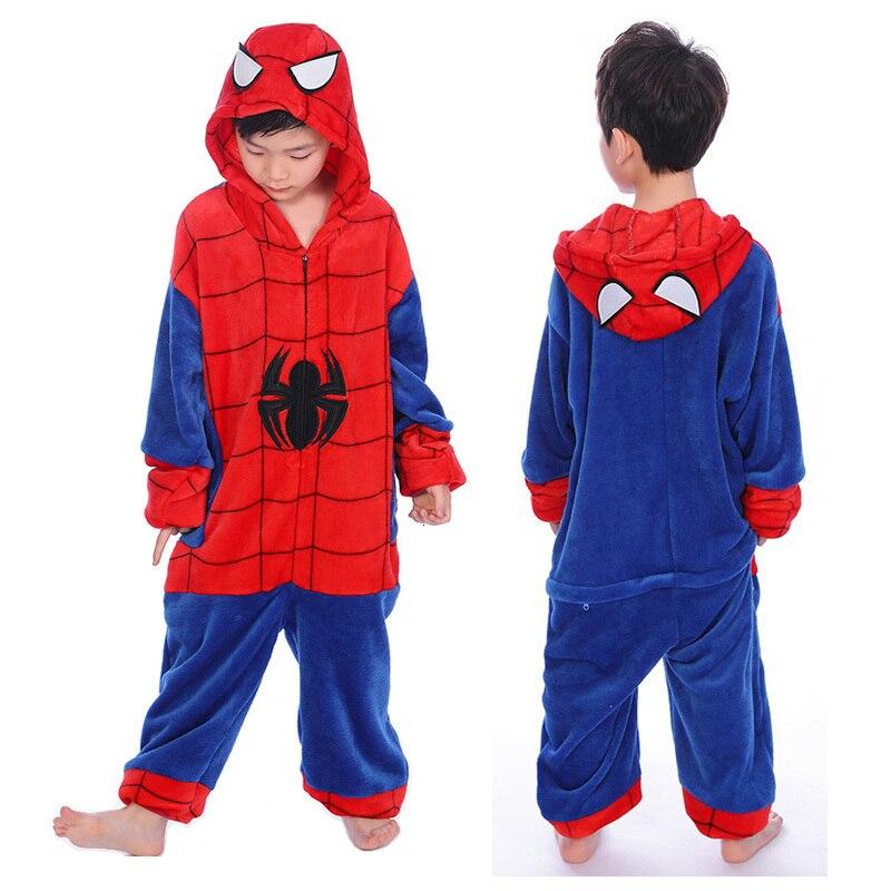 Children Kigurumi Unicorn Pajamas For Boys Girls Flannel Kids Stich Pajamas Set Animal Sleepwear Winter Onesies Unicornio Pijama
