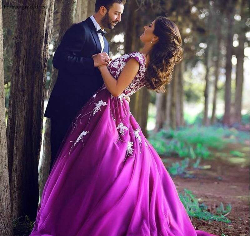 2019 Cheap Purple Sleeveless   Prom     Dress   Arabic A-Line Back Zipper Formal Holiday Wear Party Gown Custom Made Plus Size