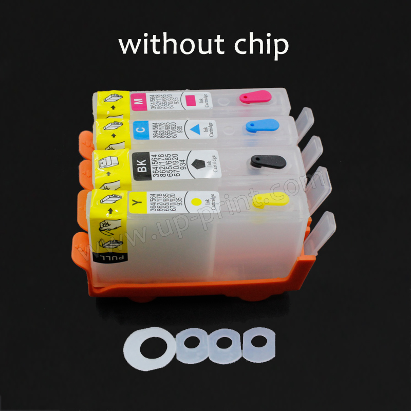 UP 4pcs refillable ink cartridge For HP 903 with chip OfficeJet 6950 Officejet Pro 6960 6961