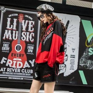 Image 3 - تي شيرت نسائي فاخر موضة كورية من ماكس لولو 2019 ملابس نسائية للخريف مطبوعة ومزود بقلنسوة