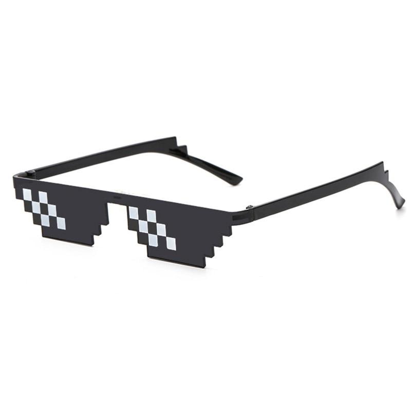 Glasses 8 Bit MLG Pixelated Sunglasses Men Women Brand Thug Life Party Eyeglasses Mosaic Vintage Eyewear in Men 39 s Sunglasses from Apparel Accessories