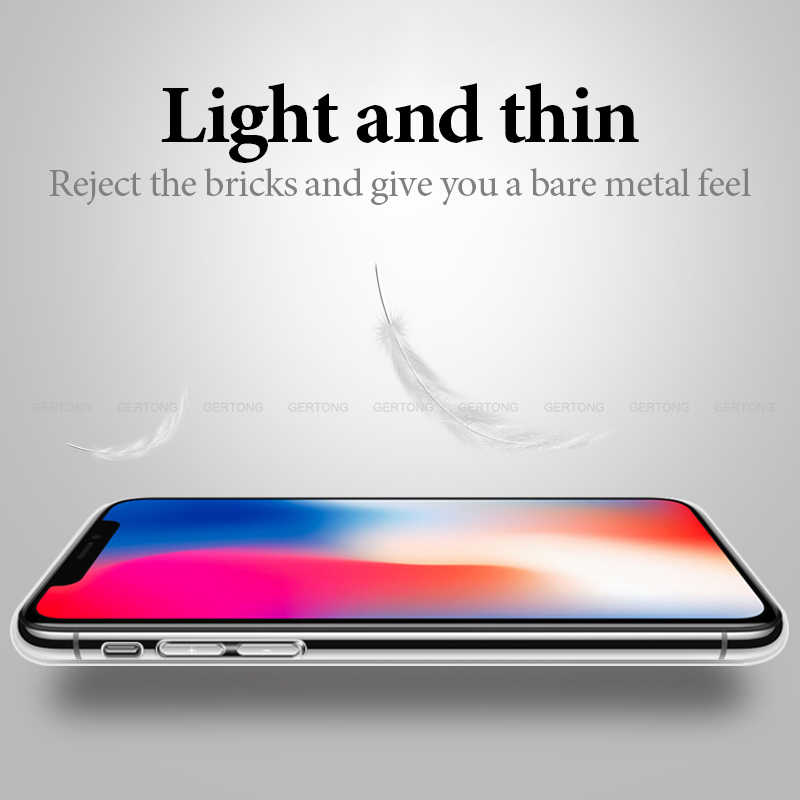 Coque TPU souple transparente Ultra mince pour iPhone X XR XS Coque Silicone transparente maximale iPhone 11 2019 11 Coque Pro Max