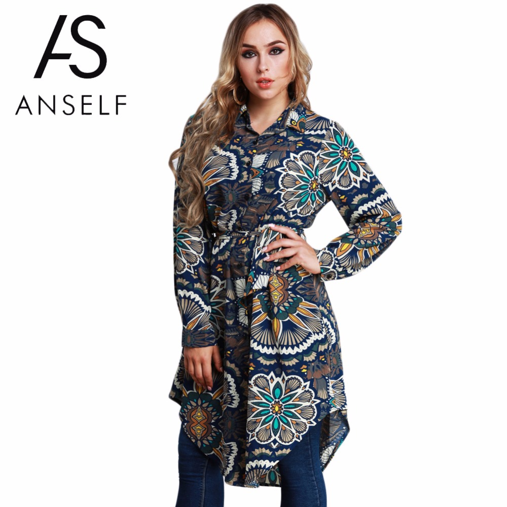 Large Size Tunics Female Blouse Women Floral Print Shirts 2019 Spring Long Sleeve Asymmetric Tops Plus Size 3XL 4XL 5XL 6XL 7XL