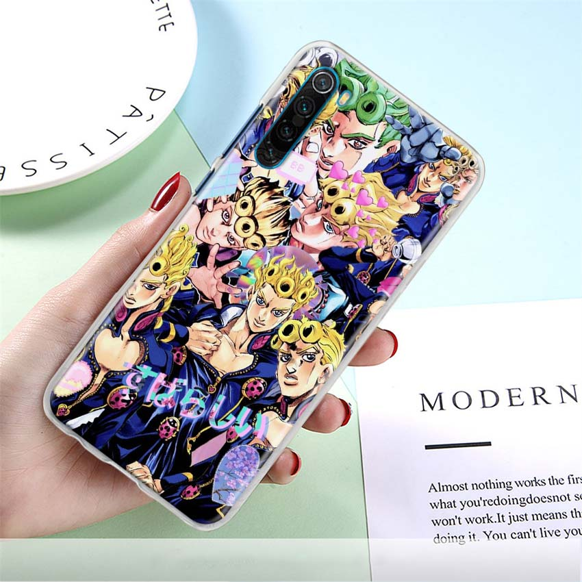 JoJo's Bizarre Adventure Phone Case for Xiaomi Redmi Note 8T 9S 9 Pro 6 7 8 Pro 6A 7A 8A 9A 9C K20 K30 Pro Hard Cover