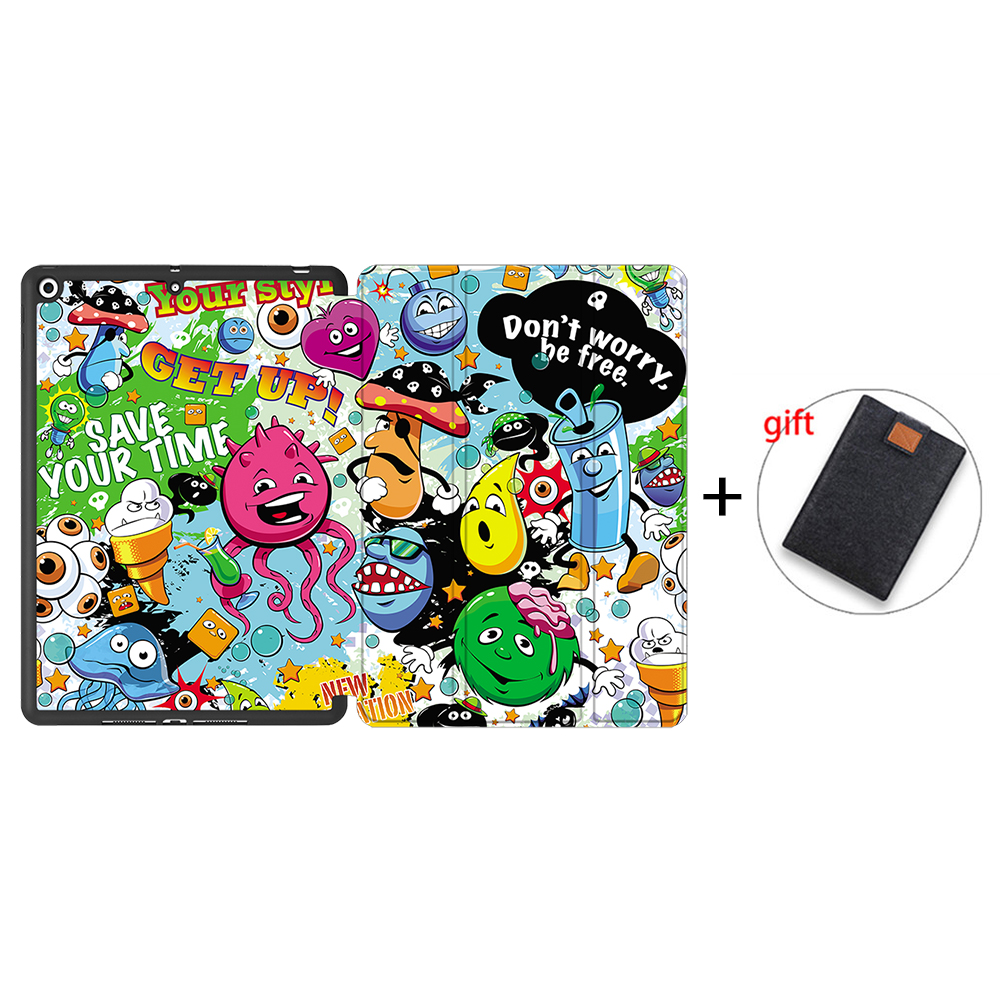 IPBC15 Clear MTT Tablet Case For iPad 10 2 inch 7th 8th Generation 2020 Soft TPU PU Leather
