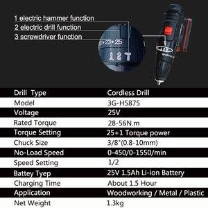 Image 3 - 25v 1.5ah capacidade da bateria broca mini sem fio ferramentas elétricas chave de fenda elétrica broca baterias chave de fenda
