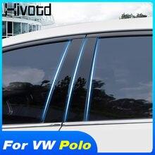 Hivotd – autocollants pour pilier central de fenêtre de voiture, bande décorative pour modification extérieure, pour VW Polo 2020 2019