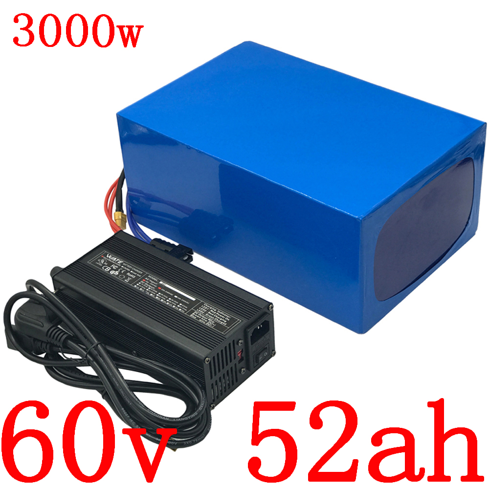 <font><b>60V</b></font> 2000W <font><b>3000W</b></font> <font><b>battery</b></font> <font><b>60V</b></font> 50AH lithium <font><b>battery</b></font> pack <font><b>60V</b></font> 50AH electric bike <font><b>battery</b></font> with 60A BMS and 67.2V charger duty free image