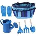 Дети Садоводство инструменты с садовыми перчатками и сад Tote открытый детский набор инструментов (синий)