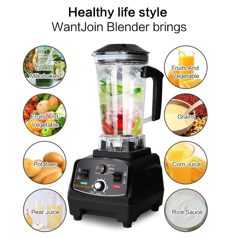 WantJoin Heavy Duty Automatico Grado Timer Blender Mixer Spremiagrumi Macchina Milk Shake CE Robot da Cucina Frantoio di Ghiaccio Frullati - 2