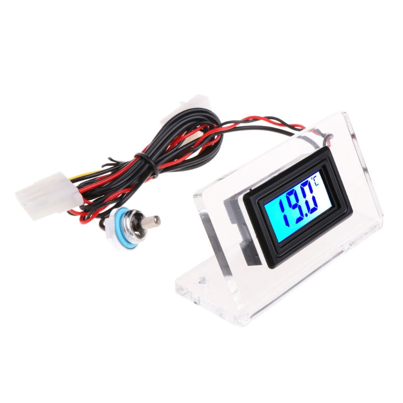 Digital Thermometer Temperature Meter G1/4 + Frame For PC Computer Water Cooling Sensor/Meter 8 x 4 x 4.5cm Thermometer 50PB