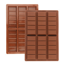 2021 novo silicone pedaços de chocolate para ferramentas de decoração do bolo de cozimento bakeware moldes grande barra longa molde de chocolate 3d diy