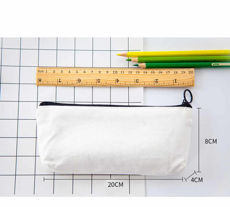 1 pc simples lápis caneta caso cosméticos maquiagem lápis bolsa de armazenamento bolsa estudantes material escolar