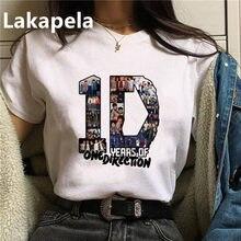 T-shirt pour femmes, Streetwear, estival et surdimensionné, style Harry, Merch imprimé, 1D