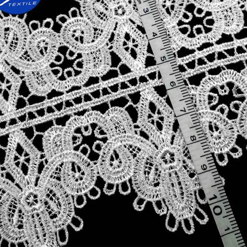 100 Yards Hollow Out Crocheted Floral Lace Ribbon Water Soluble Embrodered Black White Lace Trimming DIY Craft Decoration Fabric