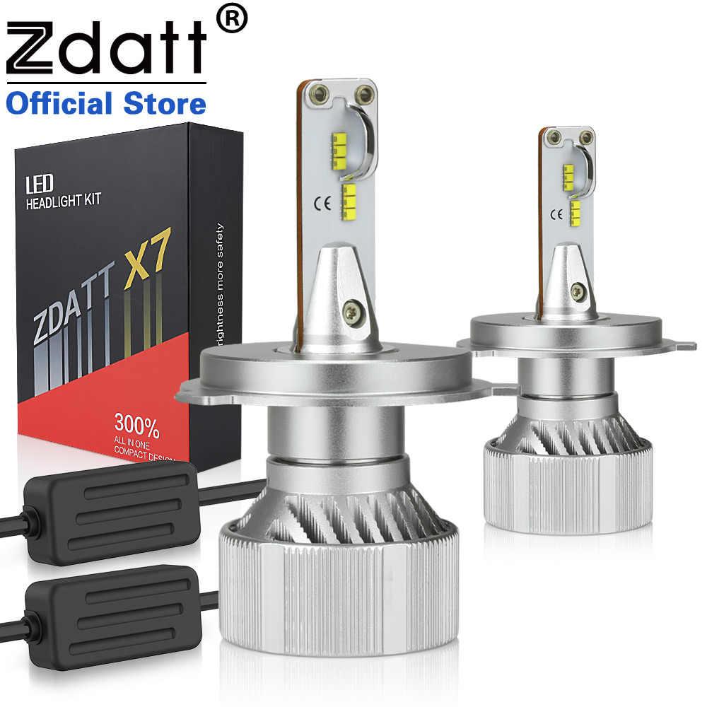 Zdatt H7 Led HeadLights ZES Canbus H4 Led H7 H8 H9 H11 9005 HB3 9006 HB4 100W 12000LM Super Bright Headlight 12V Automobiles