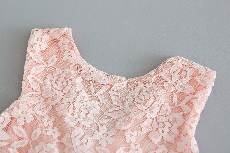 119-8-Lace Tulle Girls Dress