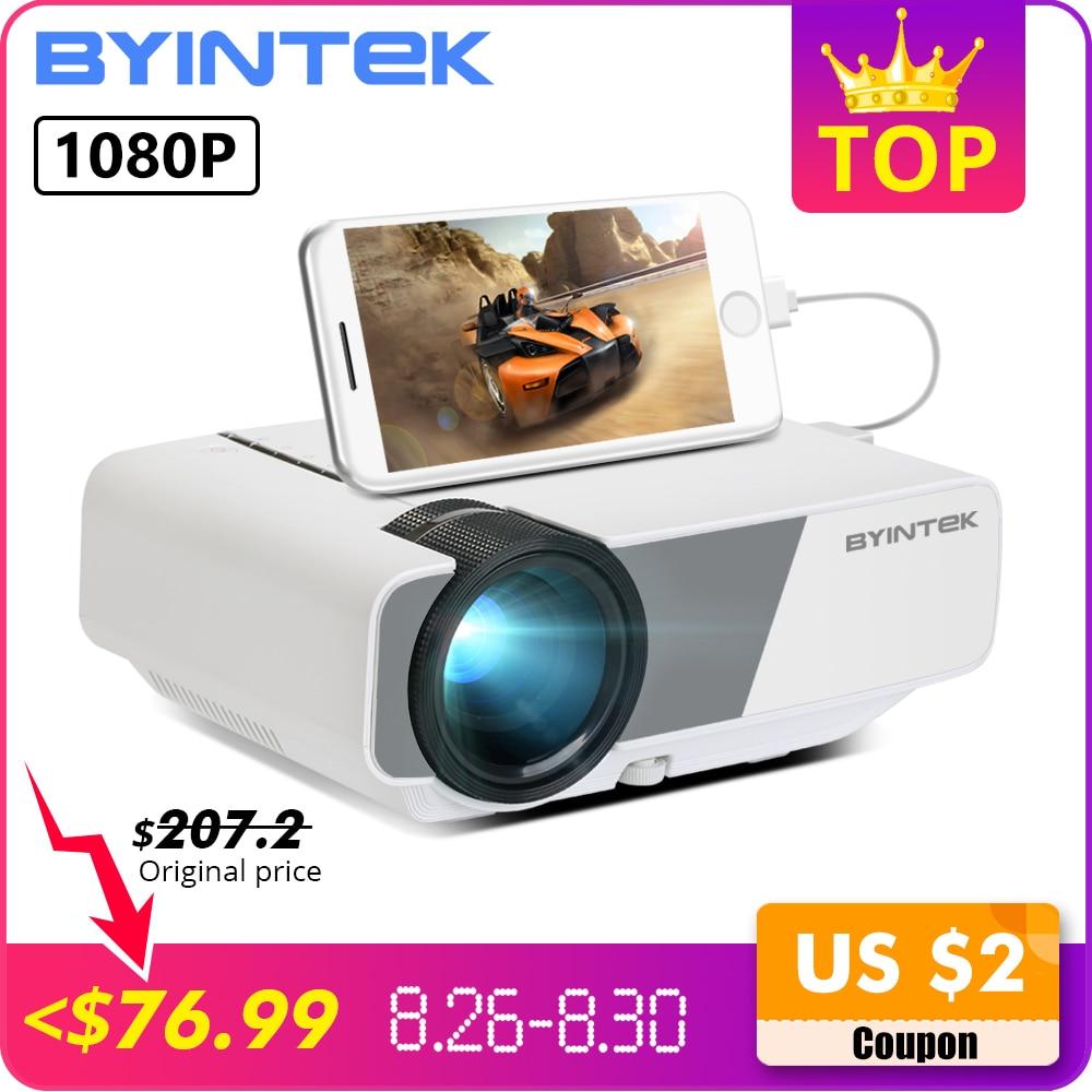 BYINTEK CÉU K1/K1plus LED Portátil Home Theater Mini Projetor HD (Opcional Com Exibição de Sincronização Para O Iphone Ipad telefone Tablet)