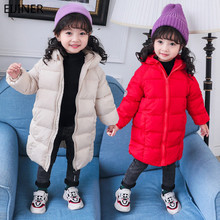 цена Children Winter Duck Down Jacket Solid Baby Girls Winter Jacket Kid Warm Outerwear Hooded Coat Snowsuit Winter Overalls For Girl онлайн в 2017 году