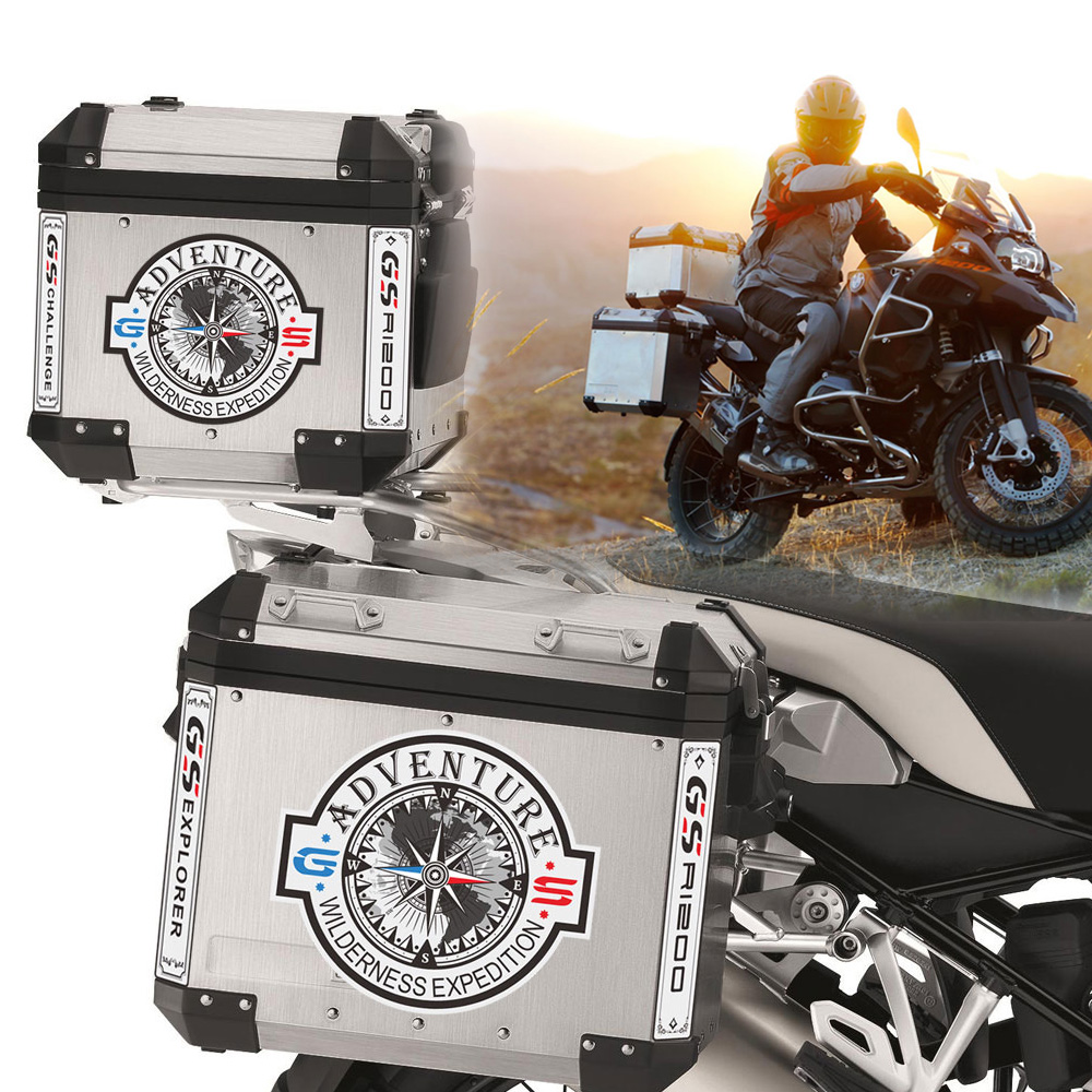 2 Stickers Motorrad BMW R 1200 gs suitcases NEW ADVENTURE ADV