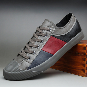 Image 2 - 2020 Nieuwe Herfst Mannen Casual Gevulkaniseerd Schoenen Britse Mode Mannen Pu Lederen Schoenen Ademend Sneakers Mannen Designer Flats