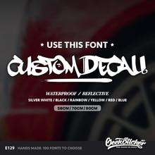 Geeksticker Custom Hip Hop Style TEXT Script Car Windshield Decal Waterproof Reflective Stickers For Mazda Toyota BMW VW Honda
