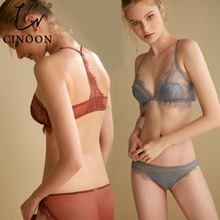 CINOON Women Underwear Set Push-Up Brassiere Lingerie Sexy Bra and Panty Sets intimates VS Pink Linen