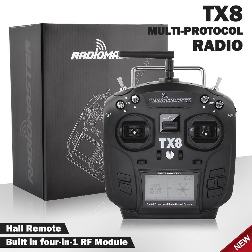 In Stock RadioMaster TX8 Hall Gimbal Transmitter 2.4G 12CH Multi-Protocol RC Remote Controller for FPV Racing Drone RC Parts