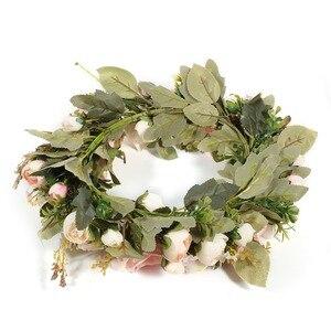 Image 4 - Adeeing clássico simulação artificial flores garland para casa sala de jardim decoração lintel